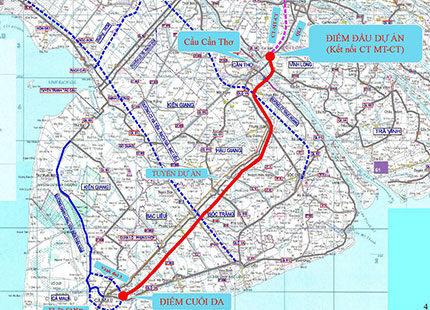 Xây Cao tốc Cần Thơ – Cà Mau giai đoạn 2021 – 2025